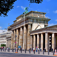 Brandenburg Gate and Quadriga of Victory in Berlin, Germany<br />