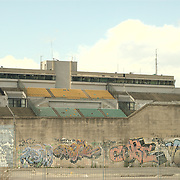 The stadium of Battipaglia is another example of a corruption ring in the construction business. The stadium was only open and used as such for a football season. In a matter of a 3 months period the stadium was closed down and left it as such. Today the local town hall has some temporary offices in it.