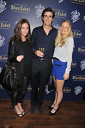 Left to right, EVEIE LONGDON, EARL COMPTON and ASTRID HARBORD at the launch of the Johnnie Walker Blue Label Club held at The Scotch, Mason's Yard, London on 1st May 2012.