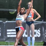 Priscilla Frederick, Antigua & Barbuda in action during the Women's High Jump Competition at the Diamond League Adidas Grand Prix at Icahn Stadium, Randall's Island, Manhattan, New York, USA. 13th June 2015. Photo Tim Clayton