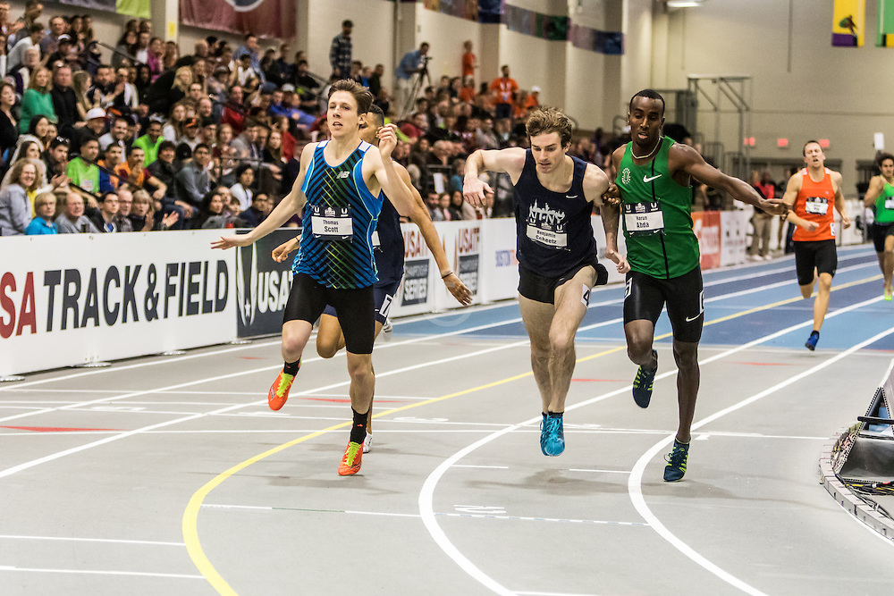 USATF Indoor Track & Field Championships: mens 1000, Scott, Scheetz, Abda