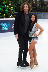 © Licensed to London News Pictures. 18/12/2018. London, UK. Ryan Sidebottom and Brandee Malto attends a photocall for the launch of ITV's Dancing On Ice new series. Photo credit: Ray Tang/LNP