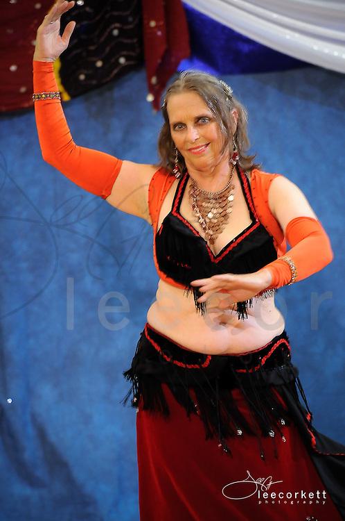 A fusion dancer performs at Tribal Fest 2013 in Sebastopol, Calfornia