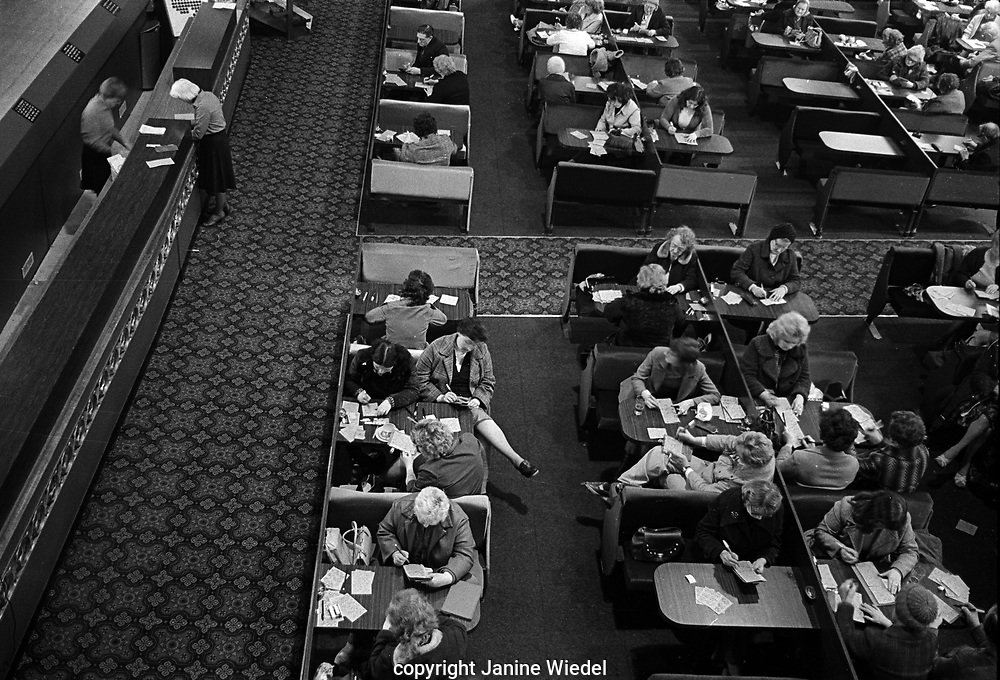 People playing Bingo in large Mecca Bingo Hall in Birmingham the West Midlands in the 1970s