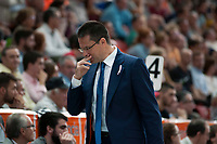 Valencia BC's  coach Pedro Martinez during ACB match. October 18, 2015. (ALTERPHOTOS/Javier Comos)