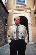 VENICE, ITALY..June 1993..45th Biennale of Venice.Achille Bonito Oliva, Biennale Director..(Photo by Heimo Aga)
