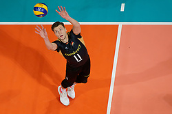 21-09-2019 NED: EC Volleyball 2019 Netherlands - Germany, Apeldoorn<br /> 1/8 final EC Volleyball / Lukas Immanuel Kampa #11 of Germany