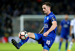 Andy King of Leicester City passes the ball - Mandatory by-line: Robbie Stephenson/JMP - 08/02/2017 - FOOTBALL - King Power Stadium - Leicester, England - Leicester City v Derby County - Emirates FA Cup fourth round replay