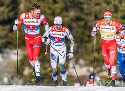 24.02.2019, Langlauf Arena, Seefeld, AUT, FIS Weltmeisterschaften Ski Nordisch, Seefeld 2019, Langlauf, Herren, Teambewerb, im Bild v.l. Emil Iversen (NOR), Gleb Retivykh (RUS) // f.l. Emil Iversen of Norway and Gleb Retivykh of Russian Federation during the men's cross country team competition of FIS Nordic Ski World Championships 2019 at the Langlauf Arena in Seefeld, Austria on 2019/02/24. EXPA Pictures © 2019, PhotoCredit: EXPA/ Stefan Adelsberger