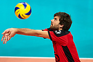 Katowice, Poland - 2017 September 02: Partner Jakob Bleher from SO Germany passes the ball while SO Germany versus SO Belarus during European Unified Volleyball Tournament 2017 at Spodek Hall on September 02, 2017 in Katowice, Poland.<br /> <br /> Adam Nurkiewicz declares that he has no rights to the image of people at the photographs of his authorship.<br /> <br /> Picture also available in RAW (NEF) or TIFF format on special request.<br /> <br /> Any editorial, commercial or promotional use requires written permission from the author of image.<br /> <br /> Image can be used in the press when the method of use and the signature does not hurt people on the picture.<br /> <br /> Mandatory credit:<br /> Photo by © Adam Nurkiewicz / Mediasport