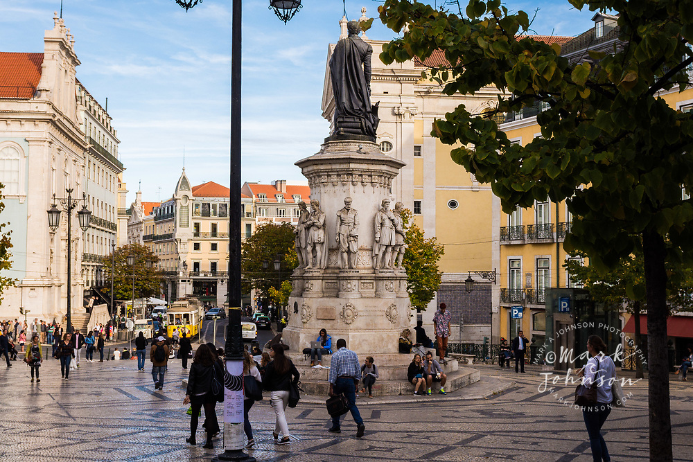 Praca de Luis Camoes, Lisbon, Portugal