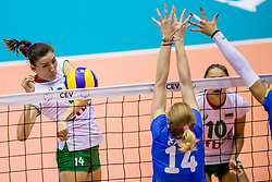 22-08-2017 NED: World Qualifications Slovenia - Bulgaria, Rotterdam<br /> Bulgaria win 3-1 against Slovenia / Emiliya Dimitrova #14 of Bulgaria<br /> Photo by Ronald Hoogendoorn / Sportida
