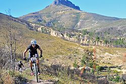 WELLINGTON SOUTH AFRICA - MARCH 23: Riders during stage five's 39km time trial on March 23, 2018 in Wellington, South Africa. Mountain bikers gather from around the world to compete in the 2018 ABSA Cape Epic, racing 8 days and 658km across the Western Cape with an accumulated 13 530m of climbing ascent, often referred to as the 'untamed race' the Cape Epic is said to be the toughest mountain bike event in the world. (Photo by Dino Lloyd)