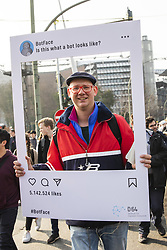 March 23, 2019 - Berlin, Germany - People attend a demonstration against Article 13 of the planned EU reform of copyright and against censorship in internet in Berlin, Germany on March 23, 2019. (Credit Image: © Emmanuele Contini/NurPhoto via ZUMA Press)