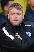 Peterborough assistant Grant McCann during the Sky Bet League 1 match between Coventry City and Peterborough United at the Ricoh Arena, Coventry, England on 31 October 2015. Photo by Alan Franklin.