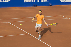 April 27, 2018 - Barcelona, Barcelona, Spain - RAFAEL NADAL during a match against MARTIN KLIZAN in the Barcelona Open Banc Sabadell 2018. RAFAEL NADAL won the match 6-0 7-5. (Credit Image: © Patricia Rodrigues/via ZUMA Wire via ZUMA Wire)