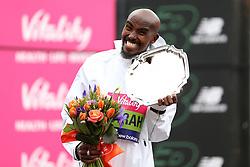 Mo Farah winner of the men's race during the Vitality Big Half in London.