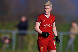 LIVERPOOL, ENGLAND - Sunday, February 4, 2018: Liverpool's Beth England celebrates scoring the third goal during the Women's FA Cup 4th Round match between Liverpool FC Ladies and Watford FC Ladies at Walton Hall Park. (Pic by David Rawcliffe/Propaganda)