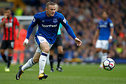 Everton striker Wayne Rooney (10) during the Premier League match between Everton and Bournemouth at Goodison Park, Liverpool, England on 23 September 2017. Photo by Craig Galloway.