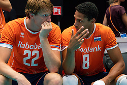 11-08-2019 NED: FIVB Tokyo Volleyball Qualification 2019 / Netherlands - USA, Rotterdam<br /> Final match pool B in hall Ahoy between Netherlands vs. United States (1-3) and Olympic ticket  for USA / Twan Wiltenburg #22 of Netherlands, Fabian Plak #8 of Netherlands
