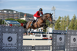 Philippaerts Olivier, (BEL), H&M Armstrong van de Kapel <br /> First Round<br /> Furusiyya FEI Nations Cup Jumping Final - Barcelona 2015<br /> © Dirk Caremans<br /> 24/09/15
