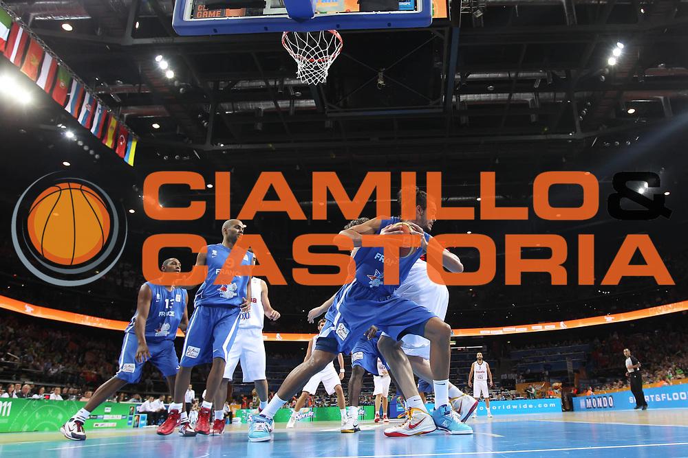 DESCRIZIONE : Kaunas Lithuania Lituania Eurobasket Men 2011 Finale Primo Secondo Posto Final Spagna Francia Spain France<br /> GIOCATORE : Joakin Noah<br /> SQUADRA : Francia France<br /> EVENTO : Eurobasket Men 2011<br /> GARA : Spagna Francia Spain France<br /> DATA : 18/09/2011 <br /> CATEGORIA : rimbalzo<br /> SPORT : Pallacanestro <br /> AUTORE : Agenzia Ciamillo-Castoria/ElioCastoria<br /> Galleria : Eurobasket Men 2011 <br /> Fotonotizia : Kaunas Lithuania Lituania Eurobasket Men 2011 Finale Primo Secondo Posto Final Spagna Francia Spain France<br /> Predefinita :