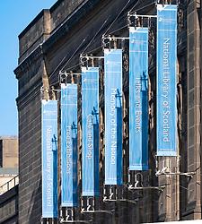 Exterior view of National Library of Scotland, Edinburgh, Uk