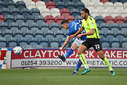 Ian Henderson shoots  during the EFL Sky Bet League 1 match between Rochdale and Northampton Town at Spotland, Rochdale, England on 1 April 2017. Photo by Daniel Youngs.