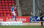 St Johnstone&rsquo;s Blair Alston celebrates after doubling his side's lead - St Johnstone v Dundee in the Ladbrokes Scottish Premiership at McDiarmid Park, Perth: Picture &copy; David Young<br /> <br />  - &copy; David Young - www.davidyoungphoto.co.uk - email: davidyoungphoto@gmail.com