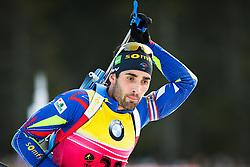Martin Fourcade (FRA) during Men 10 km Sprint of the IBU Biathlon World Cup Pokljuka on Thursday, December 16, 2015 in Pokljuka, Slovenia. Photo by Ziga Zupan / Sportida