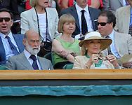 Wimbledon 2010,Sport, Tennis, ITF Grand Slam Tournament,  Prince und  Princess Michael of Kents in der Royal Box, ..Foto: Juergen Hasenkopf..