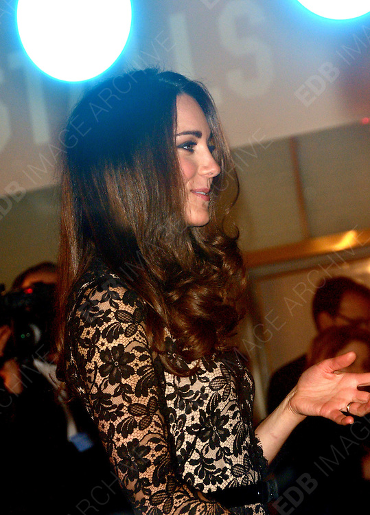08.JANUARY.2012. LONDON<br /> <br /> CATHERINE DUCHESS OF CAMBRIDGE ARRIVES AT THE WAR HORSE PREMIERE HELD AT THE ODEON LEICESTER SQUARE IN LONDON.<br /> <br /> BYLINE: EDBIMAGEARCHIVE.COM<br /> <br /> *THIS IMAGE IS STRICTLY FOR UK NEWSPAPERS AND MAGAZINES ONLY*<br /> *FOR WORLD WIDE SALES AND WEB USE PLEASE CONTACT EDBIMAGEARCHIVE - 0208 954 5968*