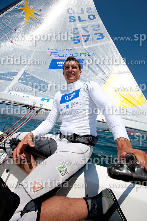 Sailor Vasilij Zbogar  of Slovenia, on June 16, 2011, in Koper, Slovenia. (Photo by Vid Ponikvar / Sportida)