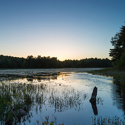 Sunset sky above a beaver pond in Epping, New Hampshire.