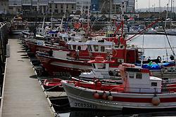 SPAIN GALICIA LA CORUNA 26AUG11 - Fishing boats in the port of La Coruna, Galicia, Spain.......jre/Photo by Jiri Rezac....© Jiri Rezac 2011