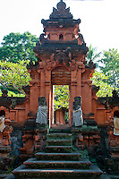 Stairs and portal to a Hindu temple in Bali, Indonesia