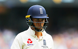 England's Tom Curran after being dismissed during day three of the Ashes Test match at the Melbourne Circket Ground, Melbourne.