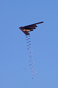B-2 stealth bomber drops bombs