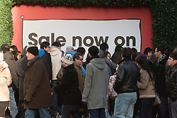 © under license to London News Pictures. 26/12/10. Despite a strike by unions representing London Underground staff, shoppers hit Oxford Street for the Boxing Day sales in Central London. Credit should read Matt Cetti-Roberts/LNP