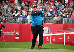 Europe's Jose Andres during a celebrity golf match ahead of the 41st Ryder Cup at Hazeltine National Golf Club in Chaska, Minnesota, USA. PRESS ASSOCIATION Photo. Picture date: Tuesday September 27, 2016. See PA story GOLF Ryder. Photo credit should read: Peter Byrne/PA Wire. RESTRICTIONS: Use subject to restrictions. Editorial use only. No commercial use. Call +44 (0)1158 447447 for further information.