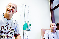 While a student at Boston College, Mark Herzlich was diagnosed with Ewing's Sarcoma, a rare bone cancer. He was treated with chemotherapy during summer vacation from school and was always surrounded by family and friends. Herzlich went on to be drafted by the New York Giants and was a part of the Super Bowl winning Giants.