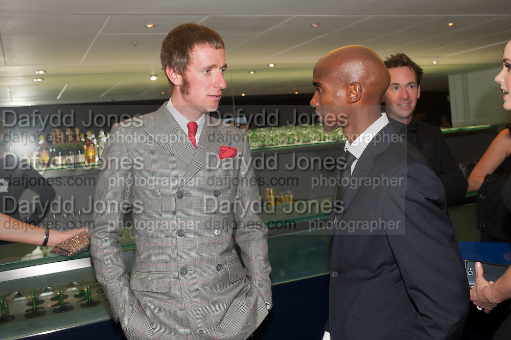 BRADLEY WIGGINS; MO FARAH, 2012 GQ Men of the Year Awards,  Royal Opera House. Covent Garden, London.  3 September 2012