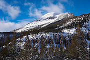 Mammoth Mountain after a winter storm, Inyo National Forest, California USA