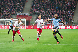 November 10, 2017 - Warsaw, Poland - Maciej Rybus, Kamil Grosicki and Carlos Sanchez during the international friendly soccer match between Poland and Uruguay at the PGE National Stadium in Warsaw, Poland on 10 November 2017  (Credit Image: © Mateusz Wlodarczyk/NurPhoto via ZUMA Press)