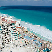 Rebuilding Cancun after hurricane Wilma.Cancun, Quintana Roo..Mexico