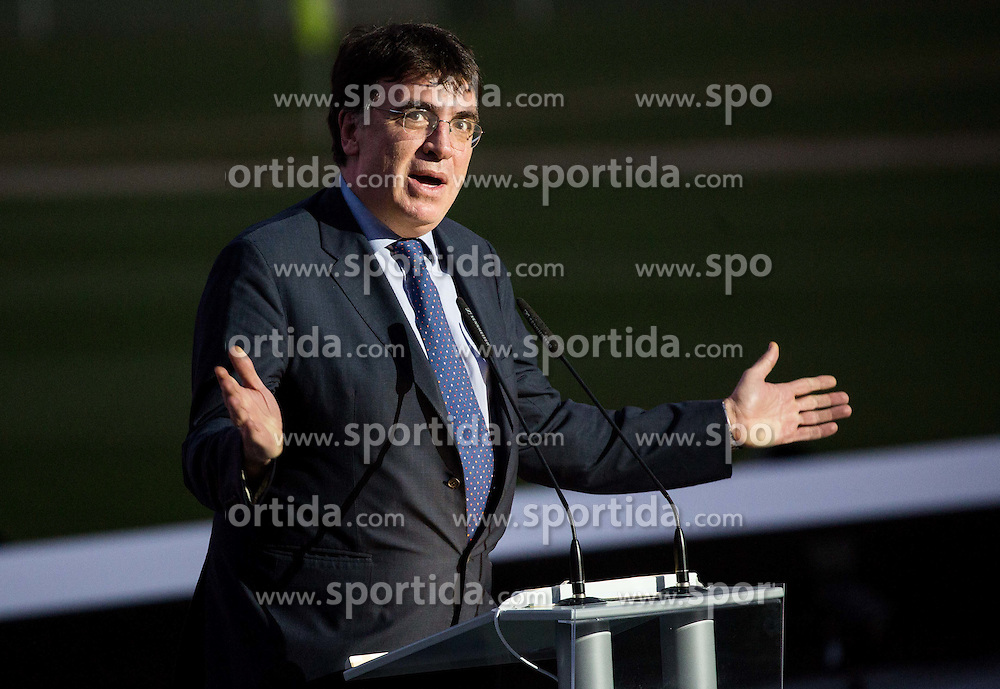 Theodore Theodoridis of UEFA during Official opening of the Slovenian National football centre Brdo (Nacionalni nogometni center Brdo), on May 6, 2016, in Brdo pri Kranju, Slovenia. Photo by Vid Ponikvar / Sportida