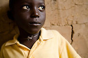 Portrait of young boy in the village of Essaout, Senegal, on Thursday June 14, 2007...