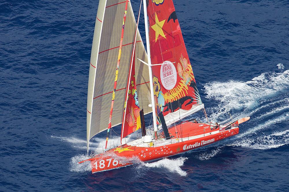 SPAIN, Cartagena, 15th Sept 2009, The Istanbul Europa Race, IMOCA Open 60, 1876 (Estrella Damm).