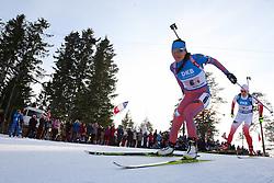 11.03.2016, Holmenkollen, Oslo, NOR, IBU Weltmeisterschaft Biathlon, Oslo, 4x6 Km Staffel, Damen, im Bild Tatiana Akimova (RUS) // during 4x6 km women relay of the IBU World Championships, Oslo 2016 at the Holmenkollen in Oslo, Norway on 2016/03/11. EXPA Pictures © 2016, PhotoCredit: EXPA/ Newspix/ Tomasz Jastrzebowski<br /> <br /> *****ATTENTION - for AUT, SLO, CRO, SRB, BIH, MAZ, TUR, SUI, SWE only*****