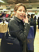 Shopping in  Topshop. Oxford St. London. February 2000<br />
